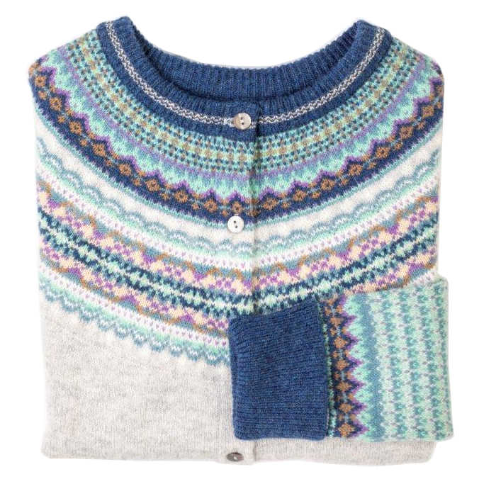 Eribe Alpine Cardigan in Arctic folded