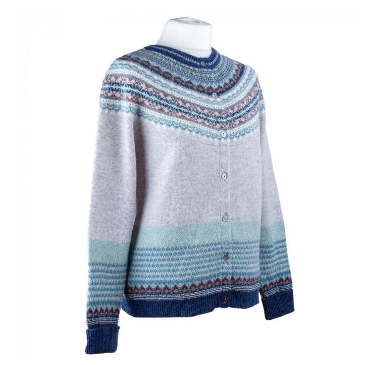 Eribe Alpine Cardigan in Arctic on mannequin