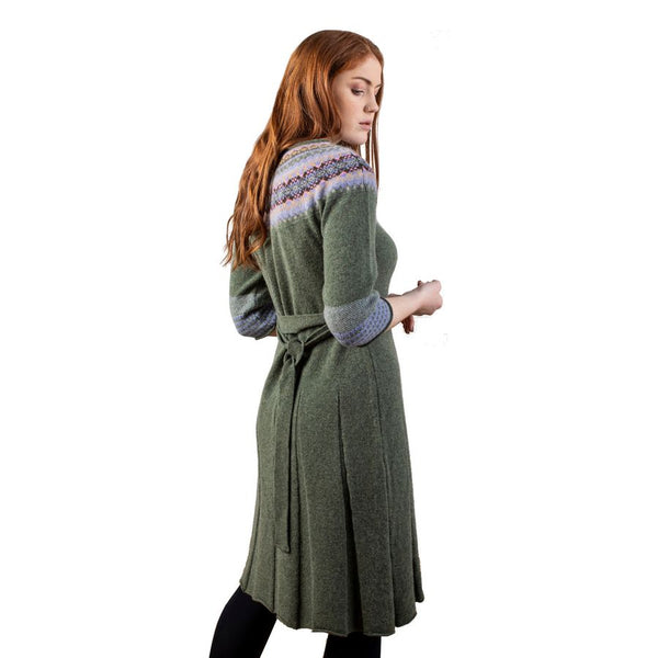 Eribe Knitwear Alpine Smock Dress in Landscape on model