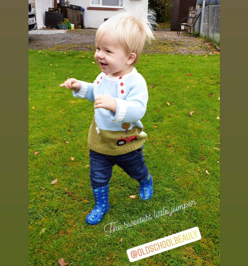 Farmyard Crewneck Jumper on Customer's Child