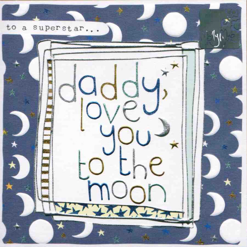 Fathers Day Card - Daddy Love You To The Moon LF60