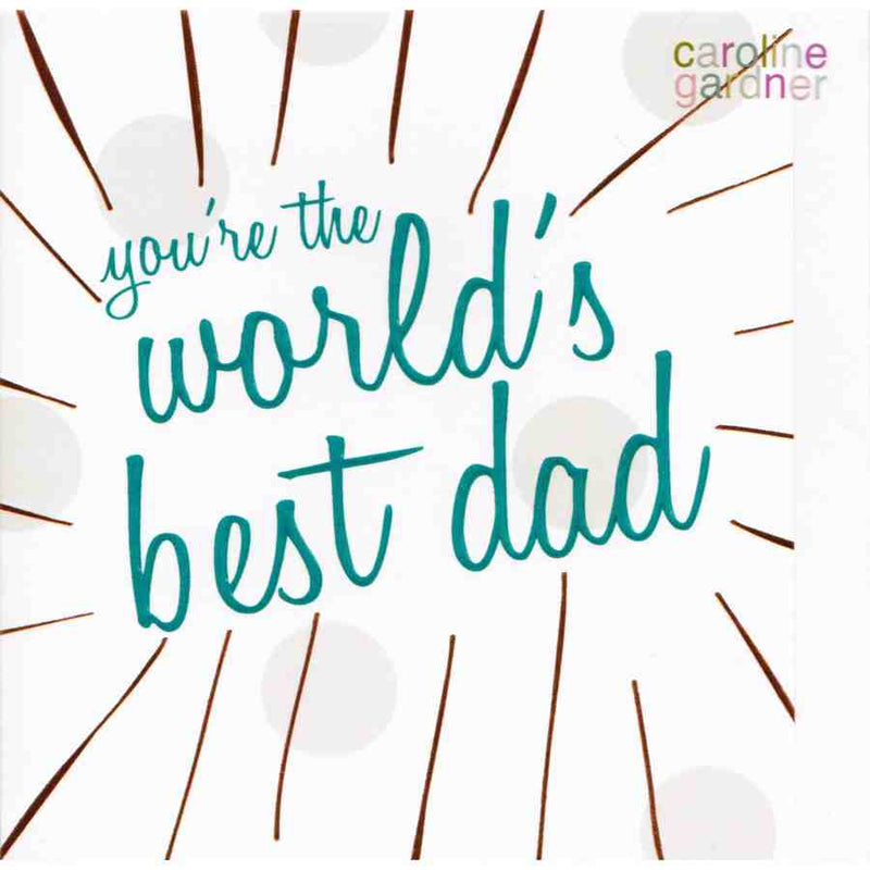 Fathers Day Card - You're The World's Best Dad