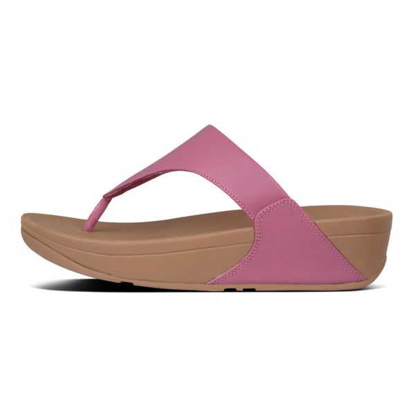 FitFlop Lulu Leather Toe-Post Sandals Heather Pink I88-802 main