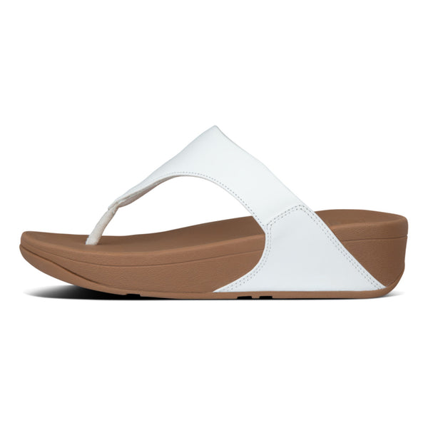 Fitflop Lulu Leather Toe-Post Sandals White I88-024 main