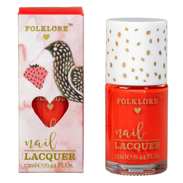 Folklore Rich Colour Nail Lacquer Strawberry