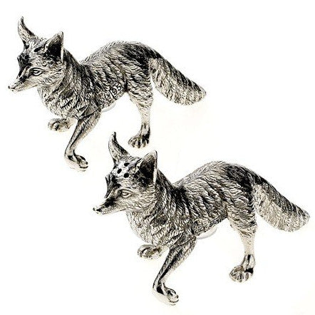 Pewter Fox Salt and Pepper Set