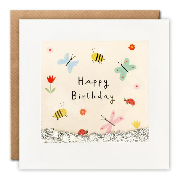 Garden Creatures Happy Birthday Shakies Card PT2837
