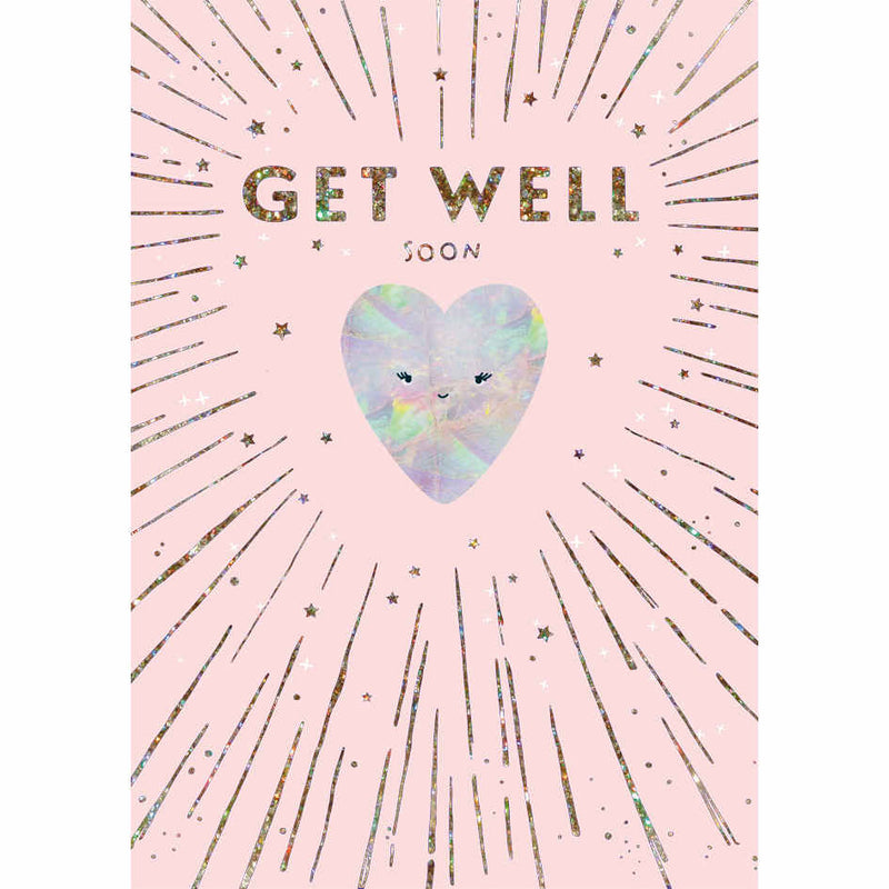 Get Well Soon Heart Card