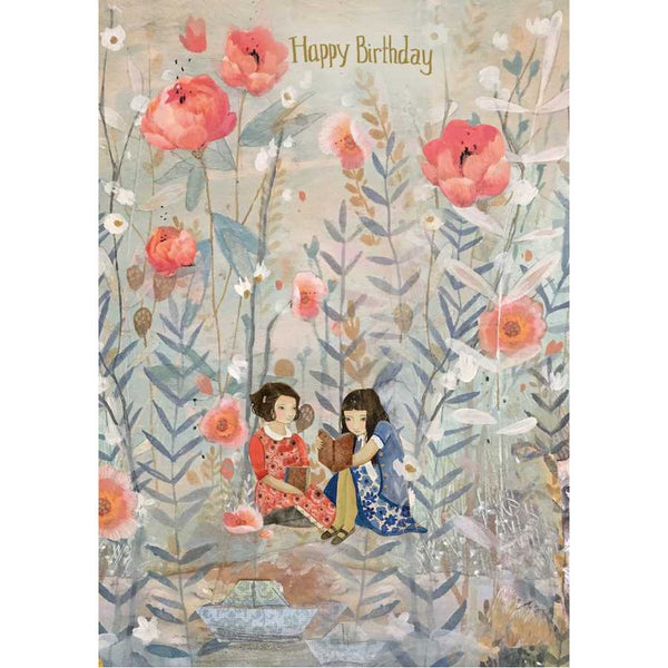 Girls In Dreamland Happy Birthday Card GC2101 front