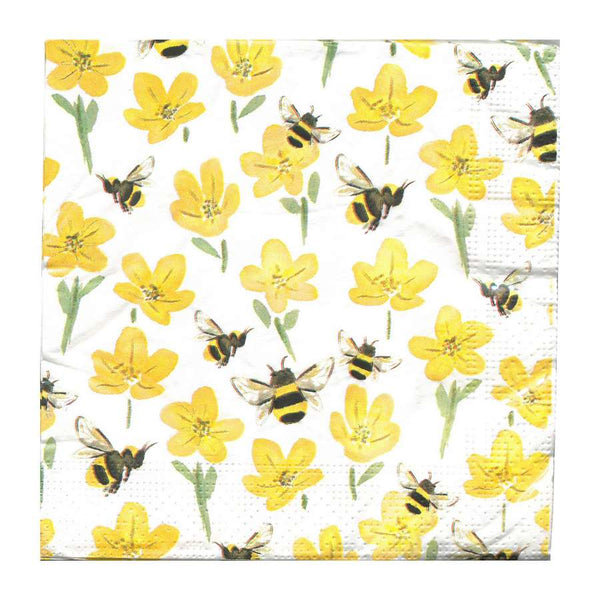 Gisela Graham Buttercup and Bumblebee Napkins