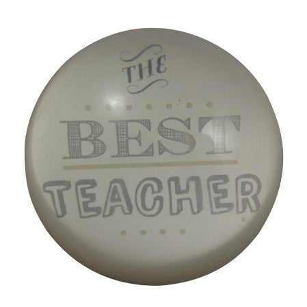 Gisela Graham Best Teacher Glass Paperweight Gift