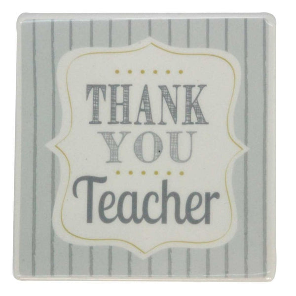 Thank You Teacher Ceramic Coaster at The Old School Beauly