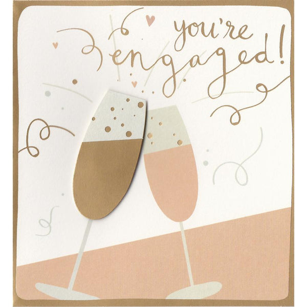 Golden Bubbly You're Engaged Card CIN013