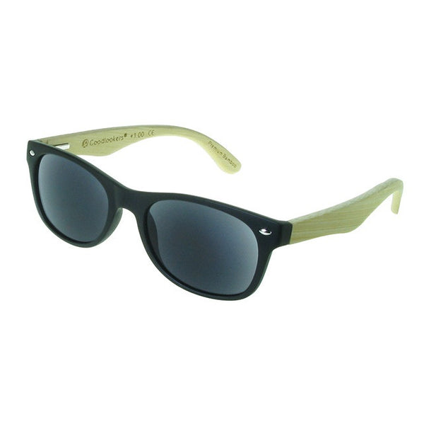 GoodLookers Bamboo Sun Readers Oakland Matt Black GL2220s side