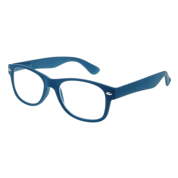 Goodlookers Billi Reading Glasses Matt Blue GL2021 side