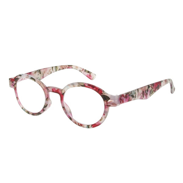 Goodlookers Botanica Pink Floral Reading Glasses GL2264 side