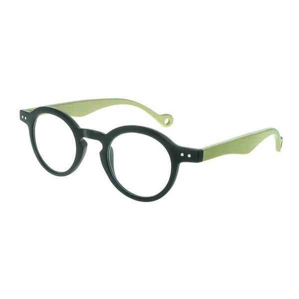 Goodlookers Clarke Natural Bamboo & Black Reading Glasses GL2310 side