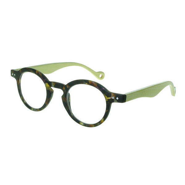 Clarke Natural Bamboo & Tortoiseshell Reading Glasses GL2310TTS side