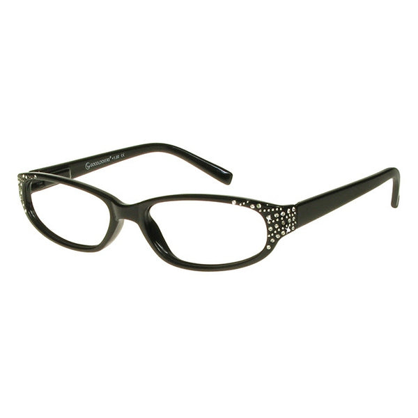 Goodlookers Genevieve Black Reading Glasses side