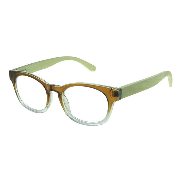 Goodlookers Picadilly Natural Bamboo Reading Glasses GL2309Brown side