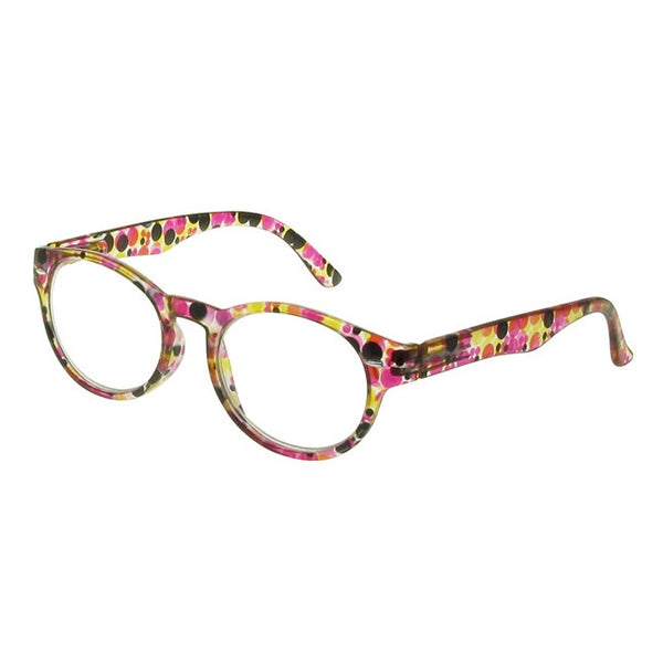 Goodlookers Zest Red & Black Multi-coloured Reading Glasses GL2228 side