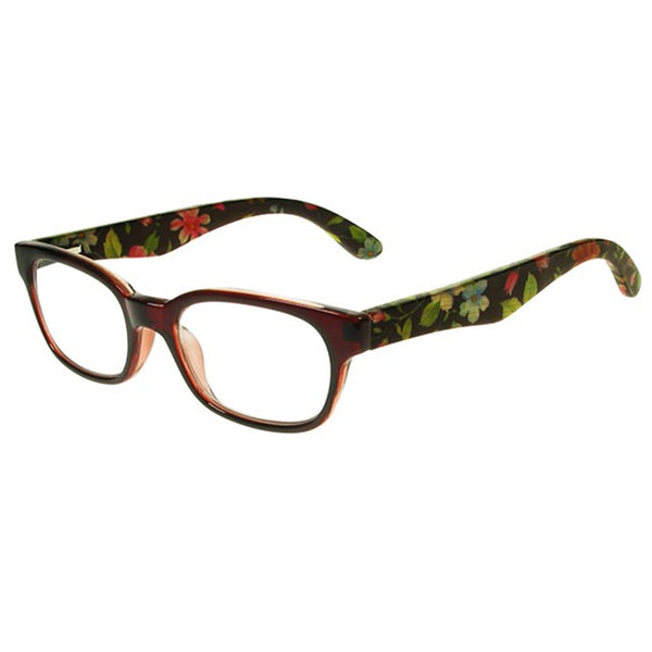 Goodlookers Natural Bamboo Reading Glasses Tallulah Red side