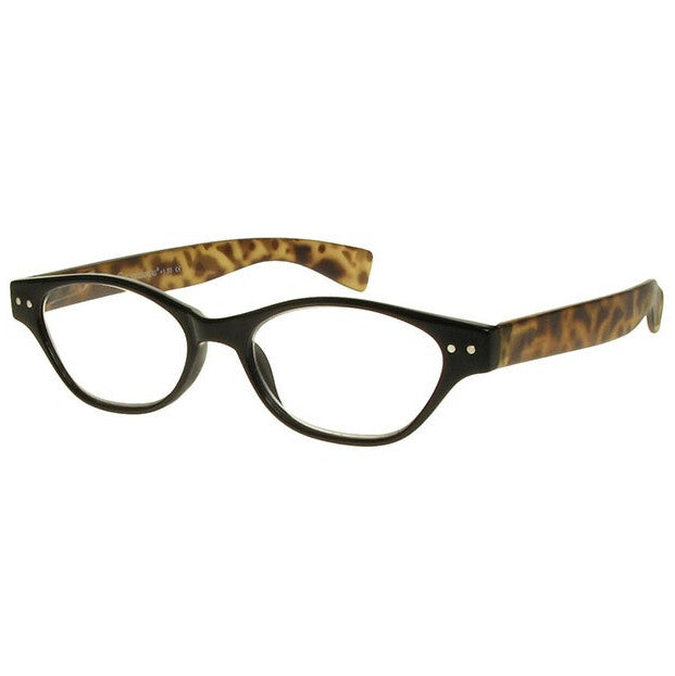Goodlookers Reading Glasses Layla Black & Tortoiseshell side