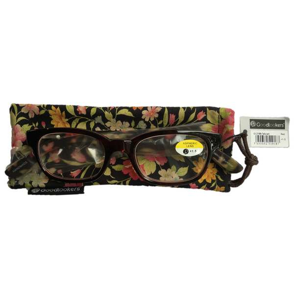 Goodlookers Reading Glasses Tallulah Red with case GL2188