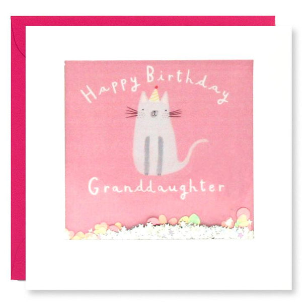 Granddaughter Cat Birthday Shakies Card PT2875