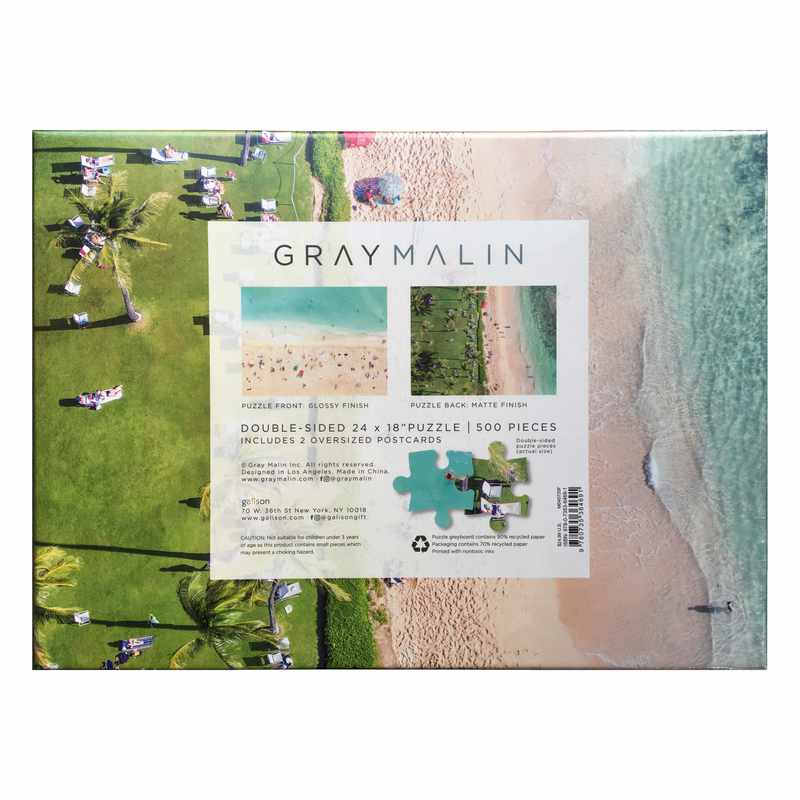 Gray Malin The Hawaii Beach Double Sided 500 Piece Jigsaw Puzzle back