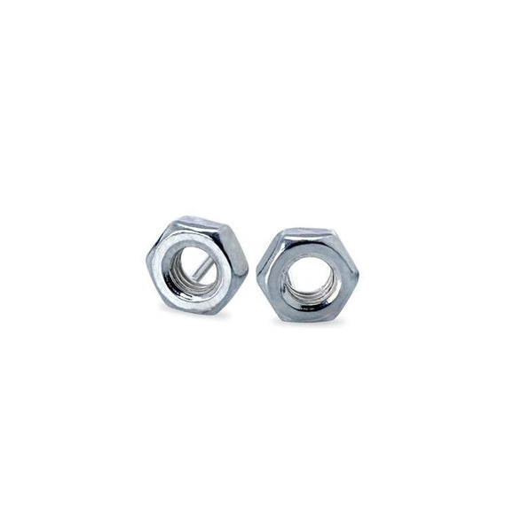 I Love a Lassie Jewellery Hard-Wear Sterling Silver Hex Nut Stud Earrings