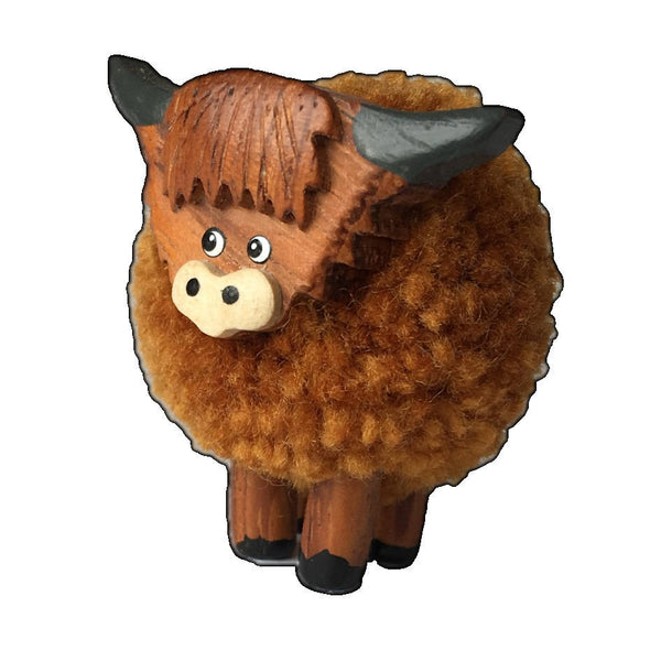 Hairy Highland Cow ornament