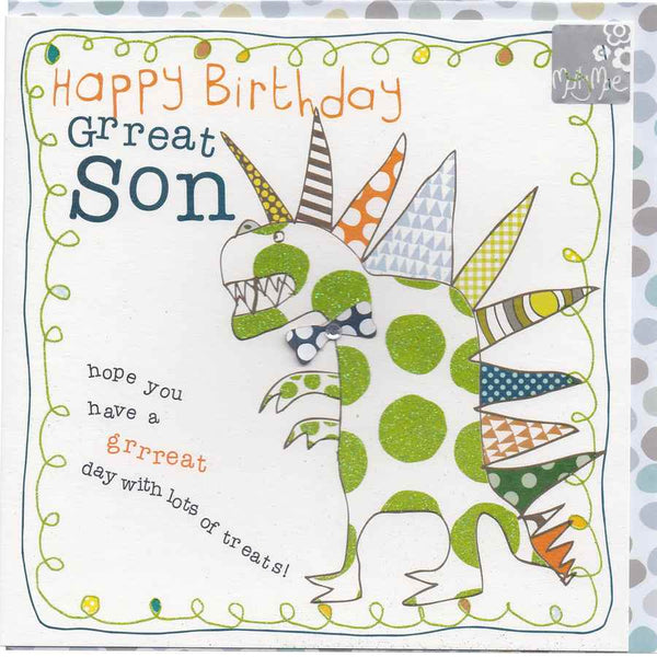 Happy Birthday Grreat Son BT03