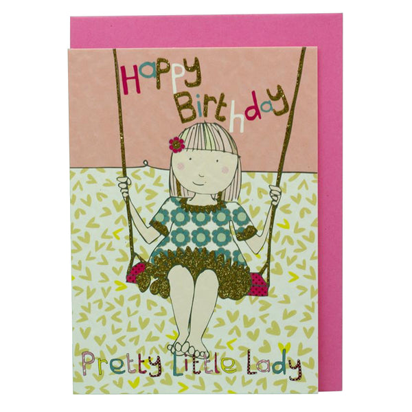 Happy Birthday Pretty Little Lady card DD04