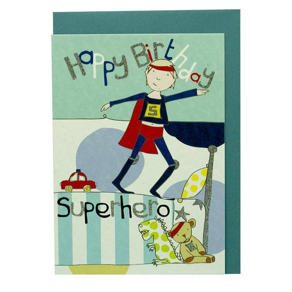 Happy Birthday Superhero DD14 Greetings Card