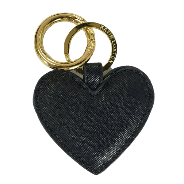 Heart Keyring Black