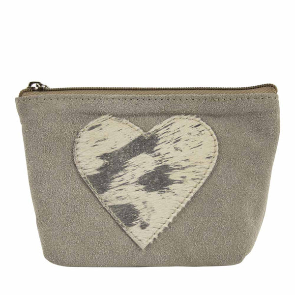 Heart Make-up Bag beige