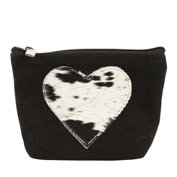 Heart Make-up Bag black