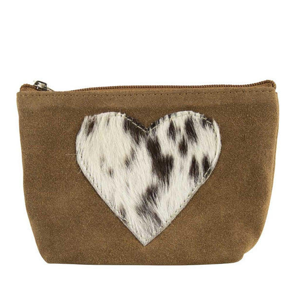 Heart Make-up Bag brown