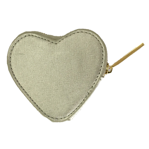 The Heart Purse - Metallic Silver