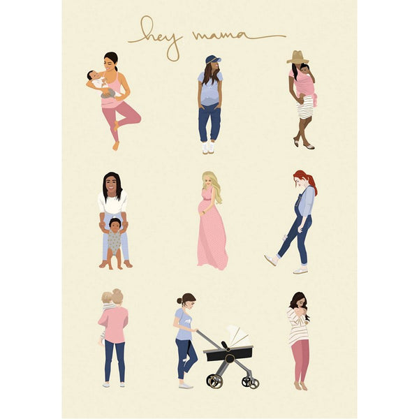 Hey Mama Greetings Card GC2087 front