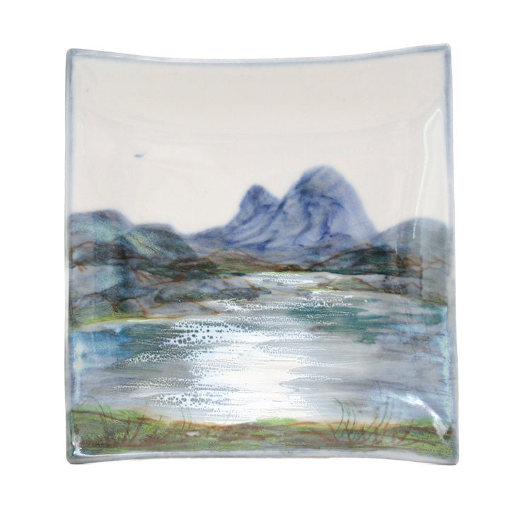 Highland Stoneware Landscape Square Plate Medium 1711LS