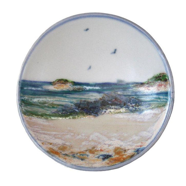 Highland Stoneware Seascape Geo Dish Small 0523SS front