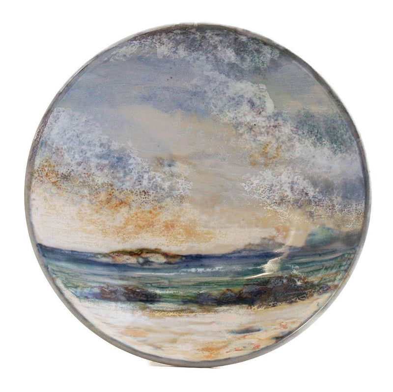 Highland Stoneware Seascape Medium Geo Dish 0524SS