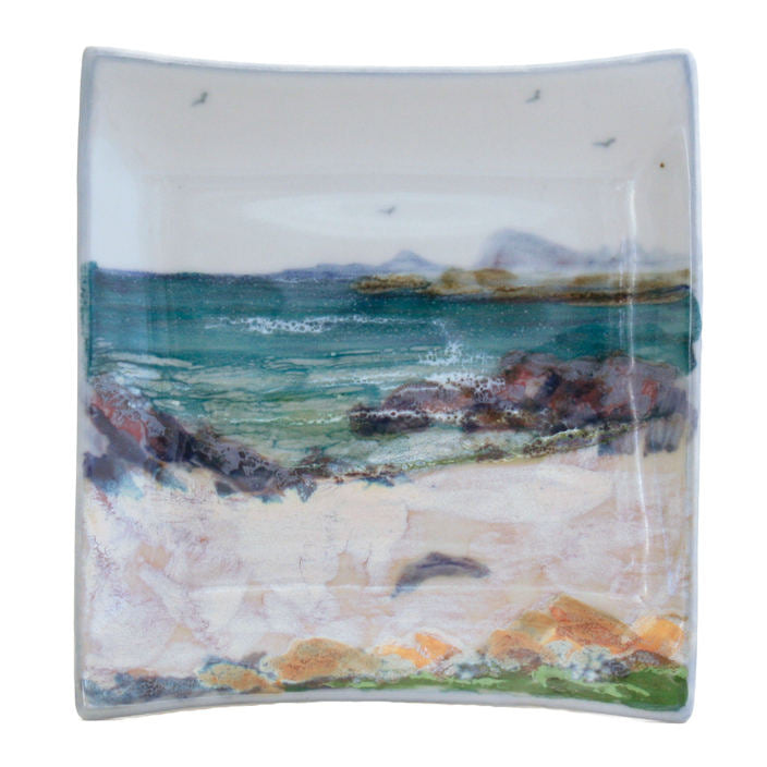 Highland Stoneware Seascape Square Plate Medium