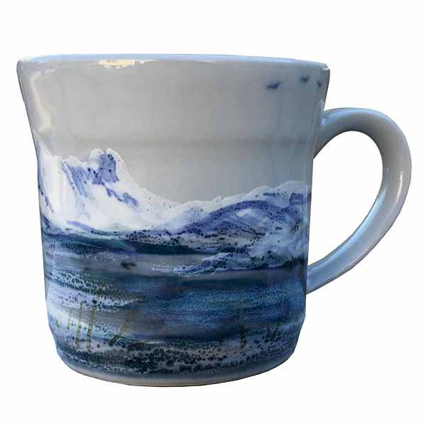 Highland Stoneware Snowscape Small Mug 0601SNS front