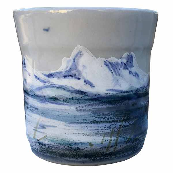 Highland Stoneware Snowscape Small Mug 0601SNS side