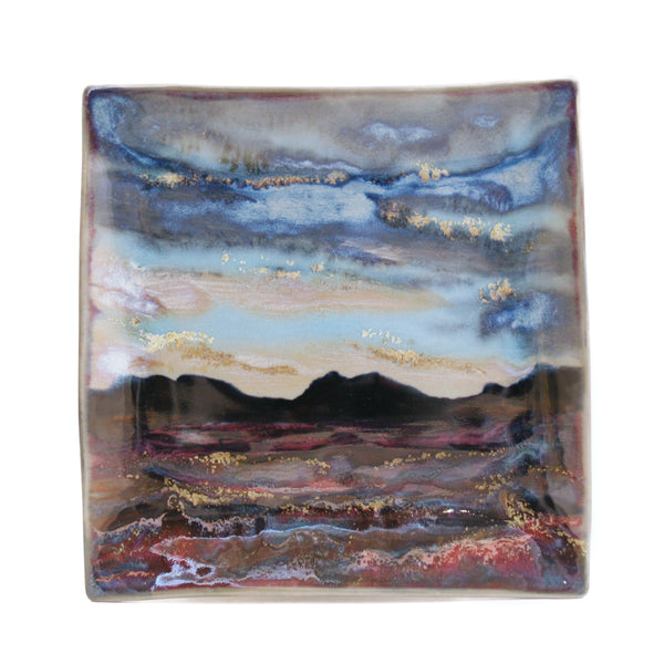 Highland Stoneware Sunset Medium Square Plate 1711DSS