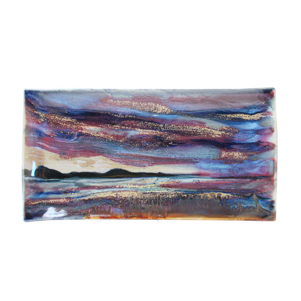 Highland Stoneware Sunset Rectangle Plate 34 cm