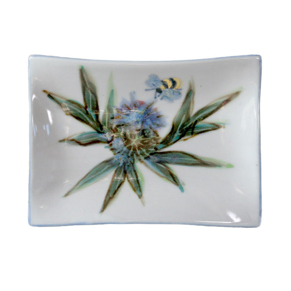 Highland Stoneware Thistle Extra-small Rectangle Plate 0915TH